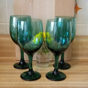 💖💖Libbey Teal Goblets